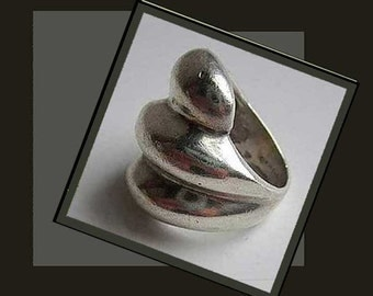 BUMP It Up, Sculptural Sterling Silver Ring, Mexican Silver, Statement Ring, Modernist Ring, Taxco, Vintage Jewelry, Women