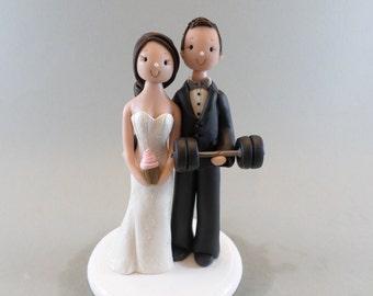 Unique Cake Topper - Bride & Groom Customized Wedding Cake Topper