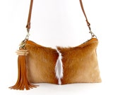 Fur Clutch ~ Brown Fur Bag ~ Springbok Clutch ~ Casual Fur ~ Springbok Leather Bag ~ Springbok Cross Body ~ Springbok Bag ~ African