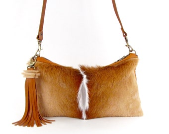 Brown Fur Cross Body Bag ~ BEST SELLER!