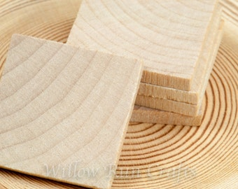 100 Pack 1 inch Wood Squares 1 Inch, Wood Tiles (23-20-140)