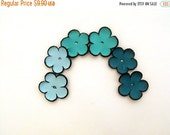 40% OFF SALE Leather flowers jewelry supplies cabochon flowers Jewelry making supplies Colorful Set of 6 pcs