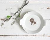 Mid Century Modern Ceramic Mushroom Dish - Finel Arabia Kaj Franck