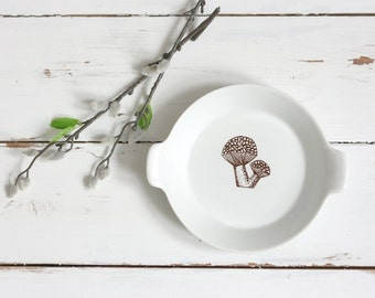 Mid Century Modern Ceramic Mushroom Dish / Kaj Franck Mushroom Dish by Finel Arabia