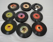 """on sale Vintage PHONOGRAPH 7"""" Vinyl Records lot of 114 45 rpm for crafting or listening"""