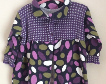 Little Girls Sweater, Size 1 Cotton Sweater, Upcycled Sweater