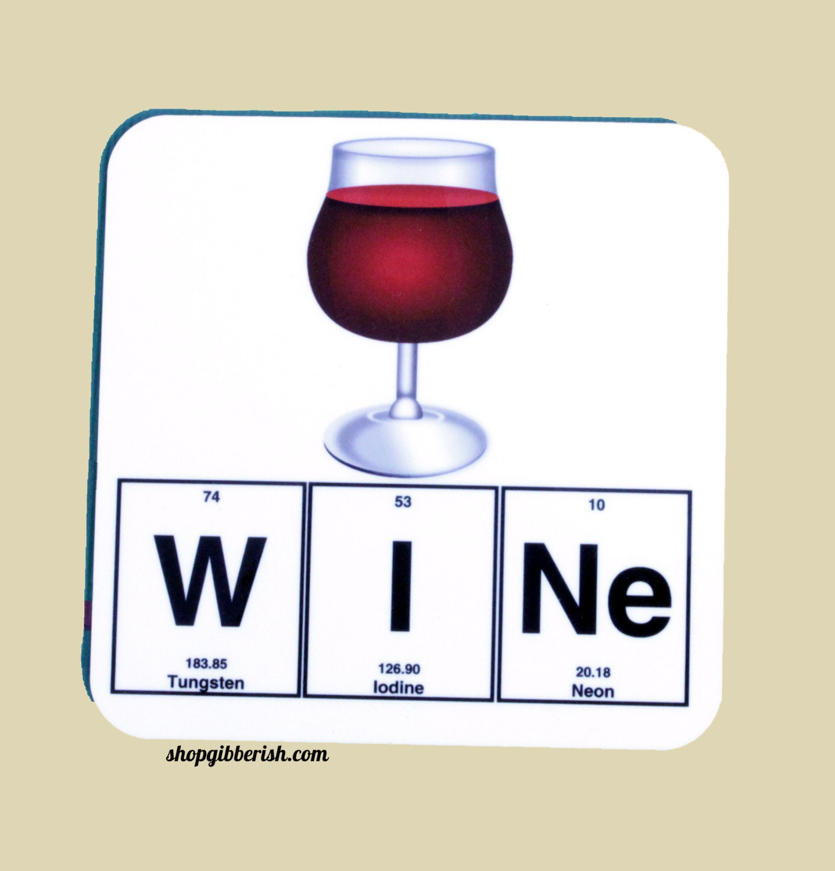 Wine science coaster emoji wine glass chemistry periodic zoom gamestrikefo Image collections
