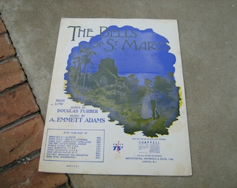 1917  vintage sheet music ( The Bells of St. Mary   )