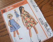 1963 Barbie Pattern - Doll and Matching Child's Dress