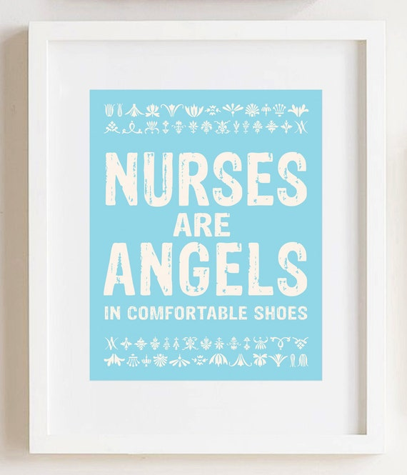 Nurses are Angels Print 8x10