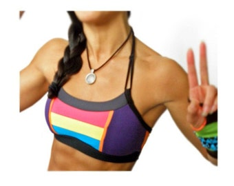 Color Rush Retro Patch Sports Bra