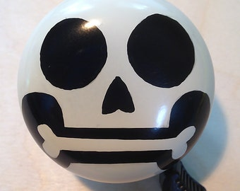Big Ol'  Skull bicycle bell - hand painted, one of a kind Art for Your Bike!