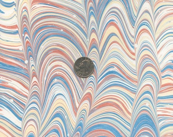 Marble Paper Featuring Mars Red, Yellow Ochre, and Prussian Blue on an unnamed pattern...