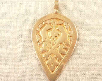 Vintage Gold Plated Sterling Circe Ancient Replica Pendant