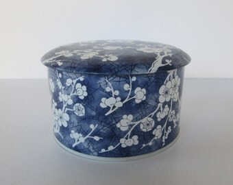 Blue Floral  Tin
