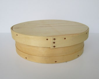 Round Wooden Cheese Box