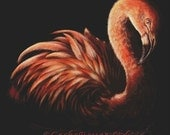 Flamingo Cross Stitch, Silence By Danielle Trudeau , Cross Stitch Kit, Counted Cross Stitch Kit, DMC Material