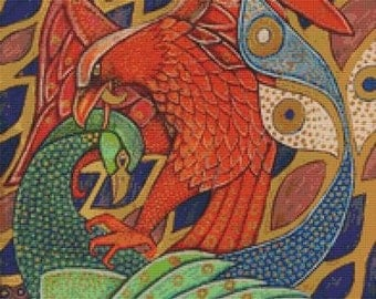 Modern Cross Stitch Kit By Lynnette Shelley 'The Harbinger Birds'