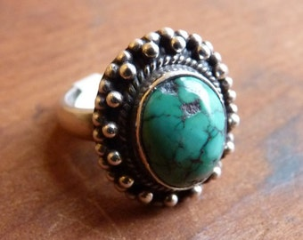 Turquoise ~ sterling silver ring