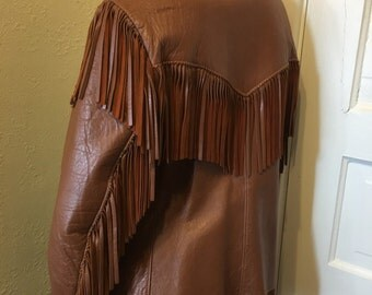 Jo O Kay leather fringe easy rider jacket