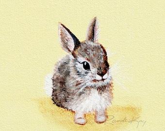 Bunny Print - Baby art prints - Bunny Print Rabbit- Nursery wall art - Baby Gift - Woodland nursery - Woodland Animals -kids art