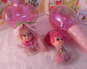 Vintage Kiddle Dolls Sweet Pea Cologne w Bottle no Cap and Tutti Frutti Ice Cream Kone