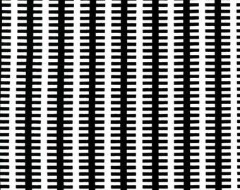 Fishbone Black Michael Miller Fabric 1 yard Modern Fabric black and white fabric