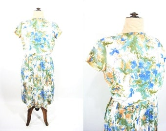 """1960s floral dress 