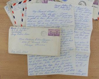 1 x Vintage Handwritten Letter Original Postmarked Envelopes WWII 1941