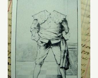 BIG SALE Antique Unused 1935 Headless Creepy Edwardian Gothic Postcard Steampunk