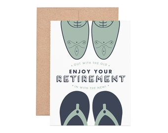 Out with the Old Retirement Letterpress Greeting Card - Retirement Card | Congrats | Congratulations | Greeting Cards | Letterpress Cards