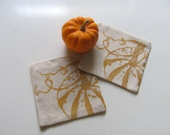Pumpkin coasters-Set of 4