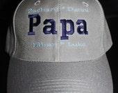 Custom Hat for PAPA- Names of Grandchildren- Abuelo; Grandpa; Papaw