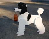 poodle dog solar lamp. mason jar lamp