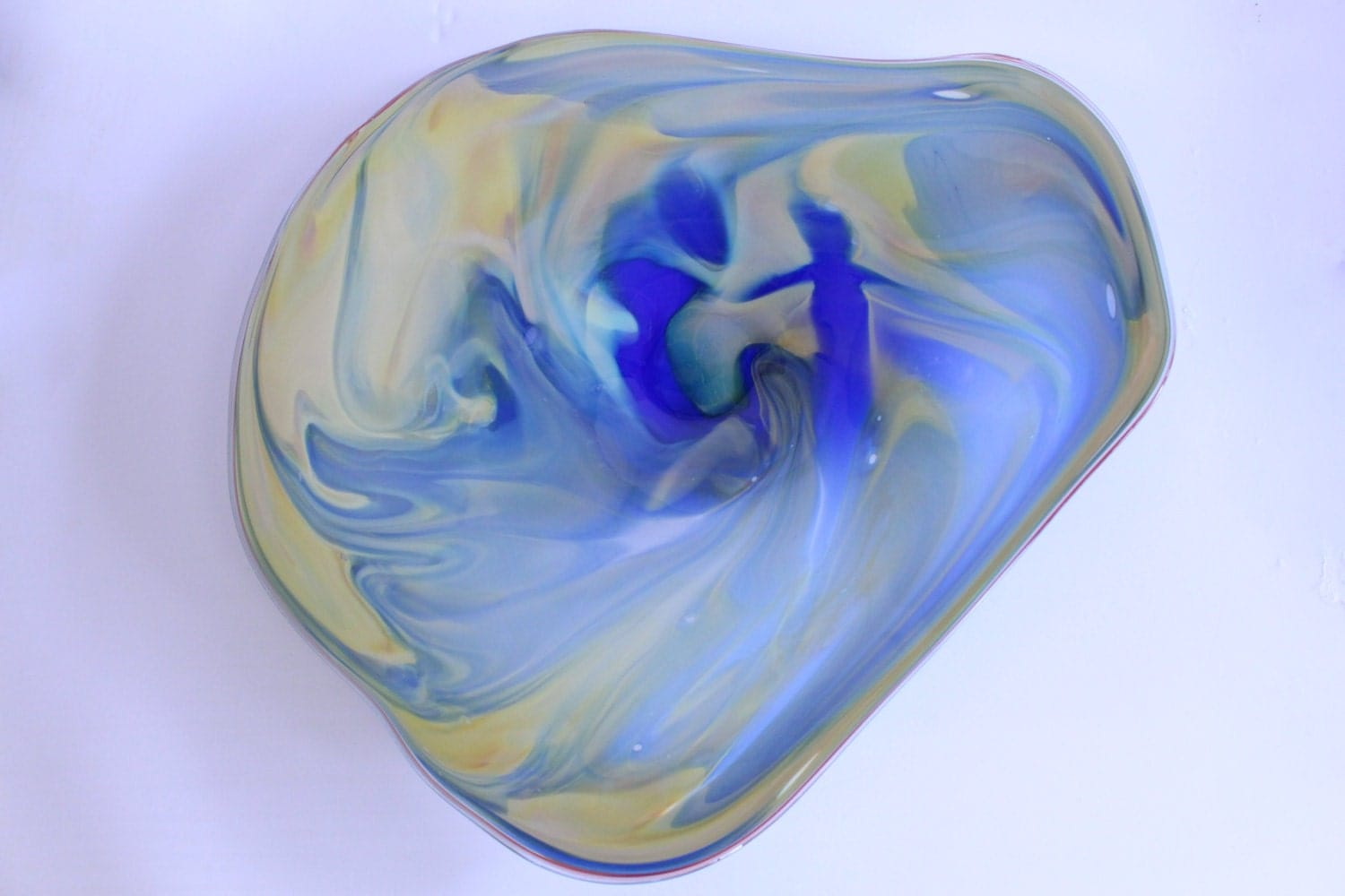 Blown Glass Wall Decor : Wall decor glass blown platter