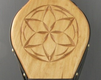 Fireplace Bellows--Chip Carved Rosette #1 (lacquer finish)