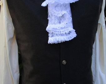 "Mens Brown/Black Wool Waistcoat/ Vest Rococo Regency 39"" (V13)  FREE SHIPPING!!"