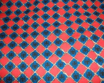Spiderman cotton fabric retired print by the yard
