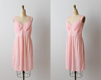 Vintage 1970s Pink Negligee / Bridal Lingerie / Nightgown / Blissfully Pink