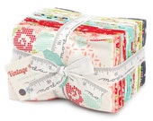 WINTER SALE - IN Stock - Vintage Picnic - Factory Cut - Fat Eighths Bundle (40) - by Bonnie and Camille for Moda Fabrics