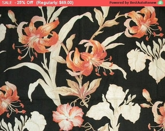 Surprise SALE - Antique French Fabric Pillow Tiger Lily