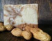 Organic Peanut Butter Soap - Handmade Peanut Butter & Shea Butter Soap Soaps - Dry Skin Soap
