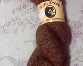 Arctic Dream Qiviut Cashmere Silk lace weight luxury yarn Grizzly Brown