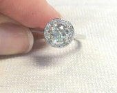 Diamond Halo .72 Carats 18k Engagement Ring