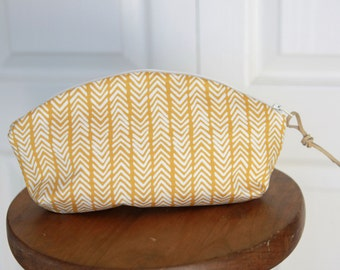 Yellow Chevron Petal Pouch