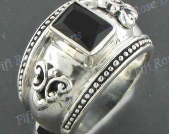 Design Onyx Gems 925 Sterling Silver Sz 6.5 Ring