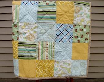 Crib Quilt - Baby Quilt - Baby Boy Quilt - Yellow Quilt - Lightweight Quilt - Crib Blanket - Quilted Baby Blanket - Neutral Baby Nursery