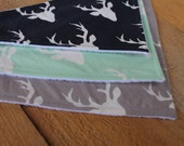 Deer Bandana Bibs / Bibdana / Drool Bib for Baby /Gender Neutral boy or girl - Gift Set of 3