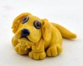 Golden Retriever Puppy Dog Lampwork Glass Focal Bead from Izzybeads SRA UK