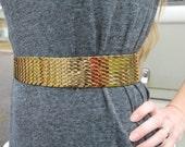 Vintage Gold Fish Scale Stretchy Belt